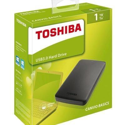 Toshiba Canvio Basics – Disco duro externo de 1 TB (2.5″, USB 3.0, SATA III)